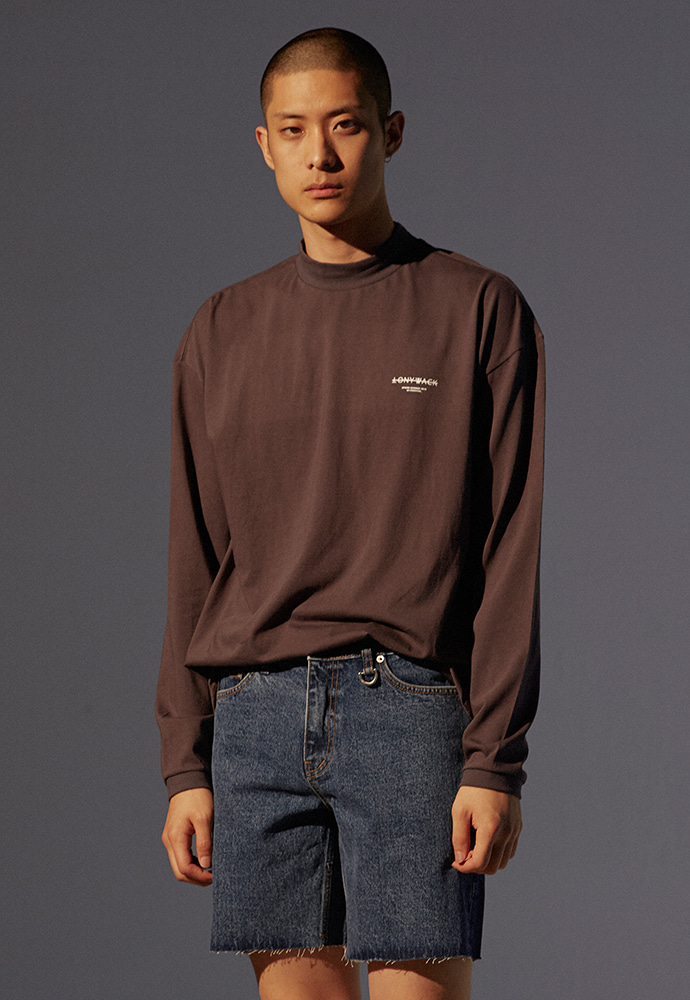 Dept. Mock-Neck Long Sleeve_ Charcoal