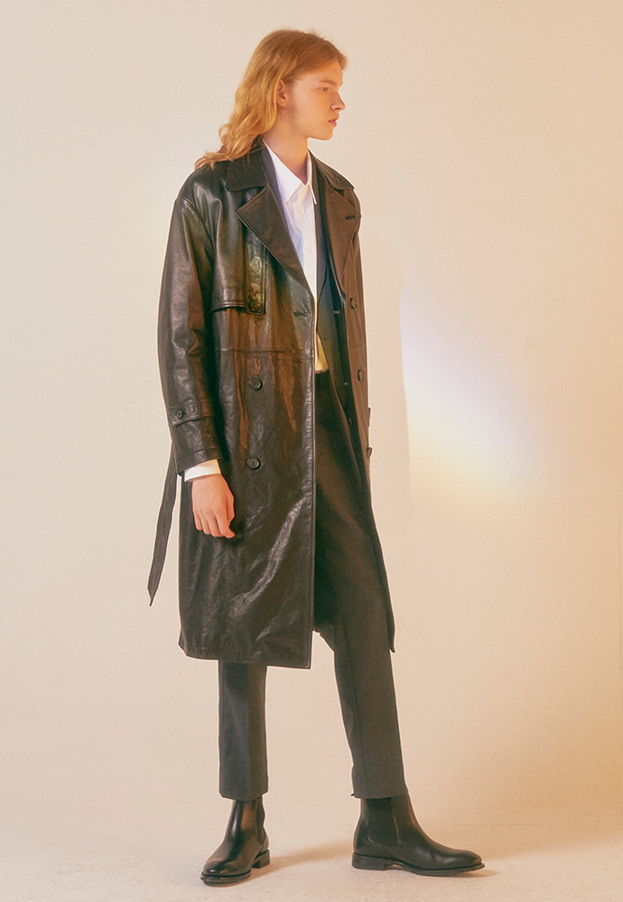Port Leather Trench Coat