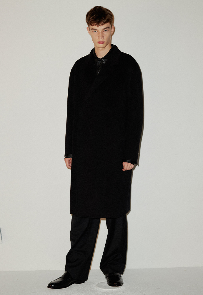 Signature Hand-made Hidden Coat_ Black