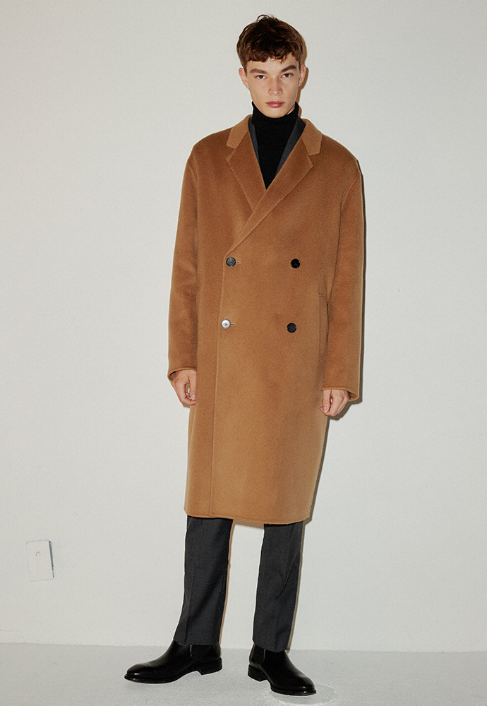 Signature Hand-made Double Coat_ Camel