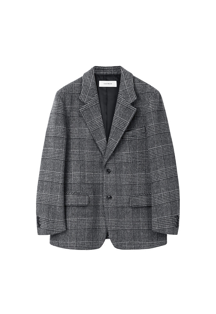 Archive Check Single Blazer_ Grey Check