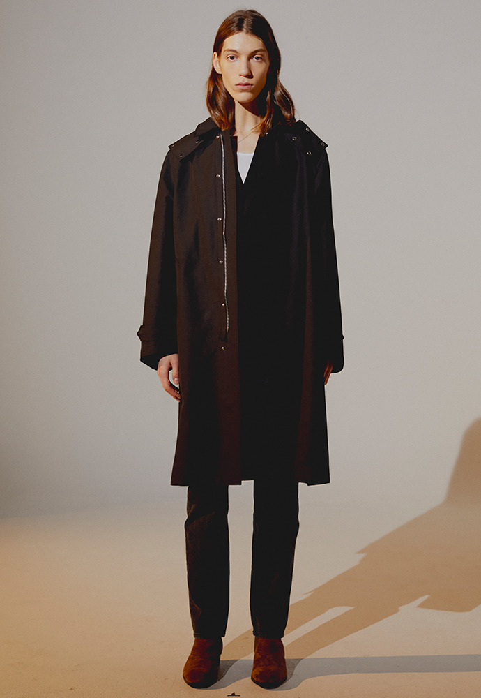 Row Detachable Hooded Coat_ Black