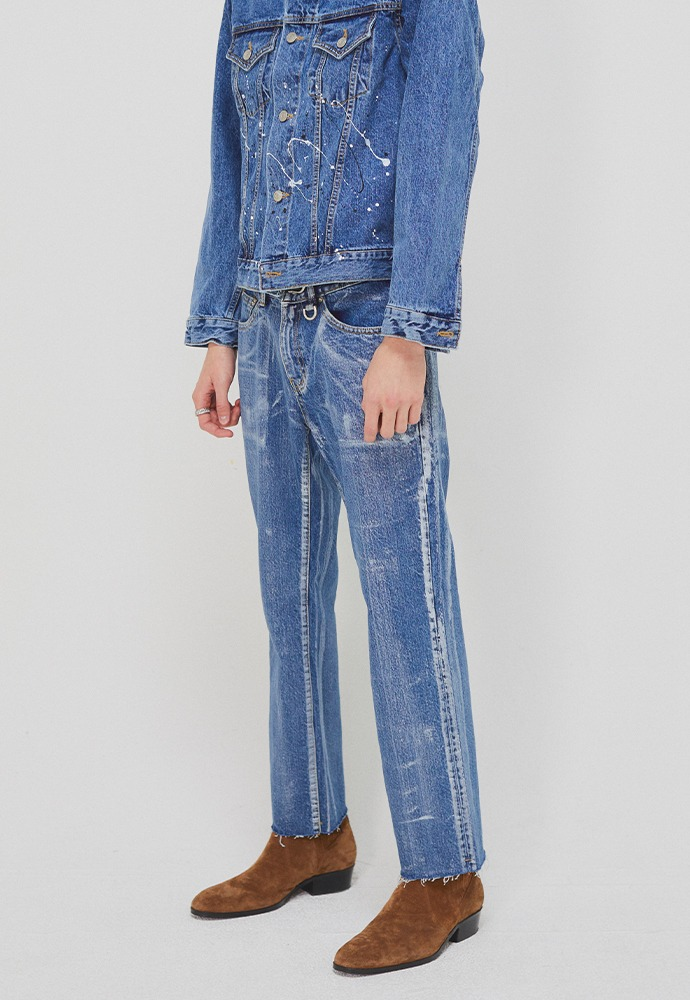 Martin Hand-painted Slim-Straight Jeans_ Mid Blue