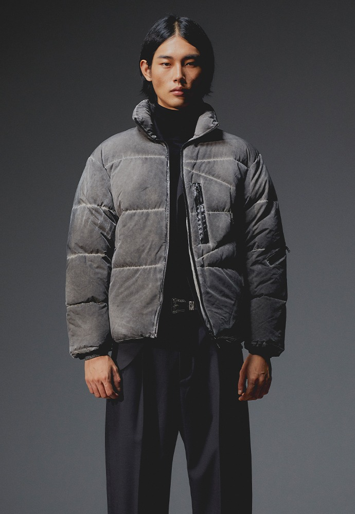 Signature Reversible Goose Down Jacket_ Dust Washing