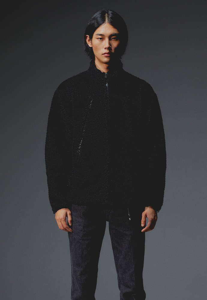 Signature Waterproof Zip-up Fleece_ Black