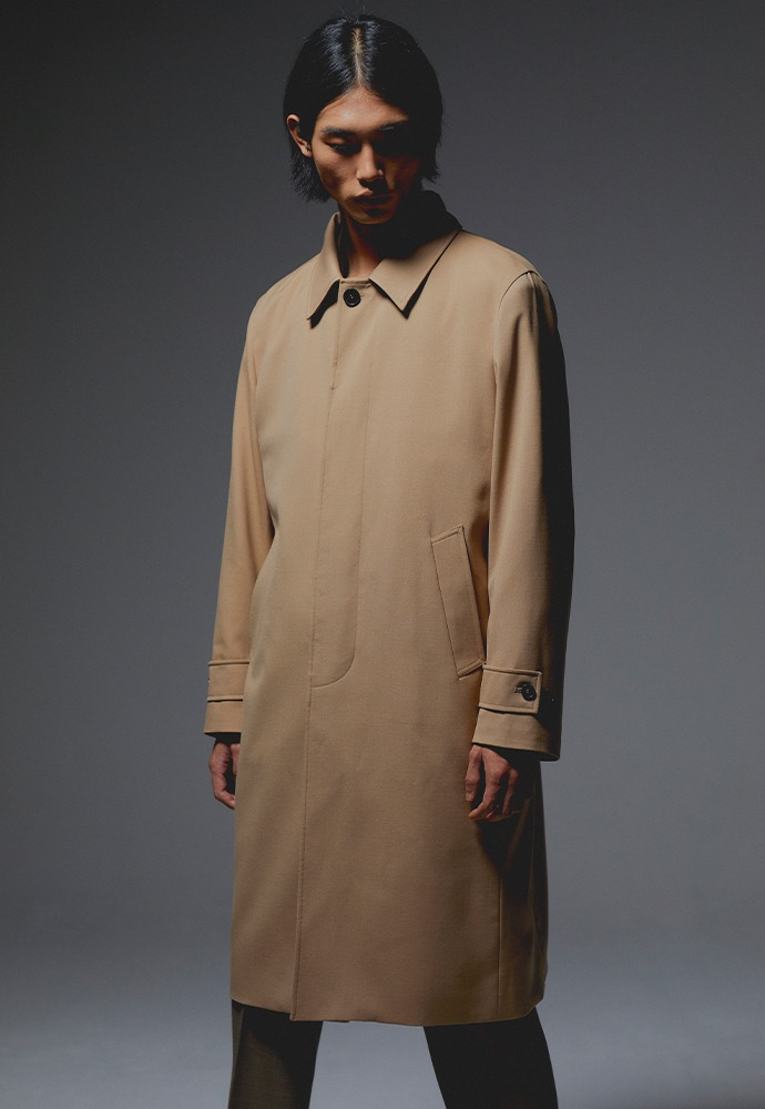 Miles Wool Mac Coat_ Beige