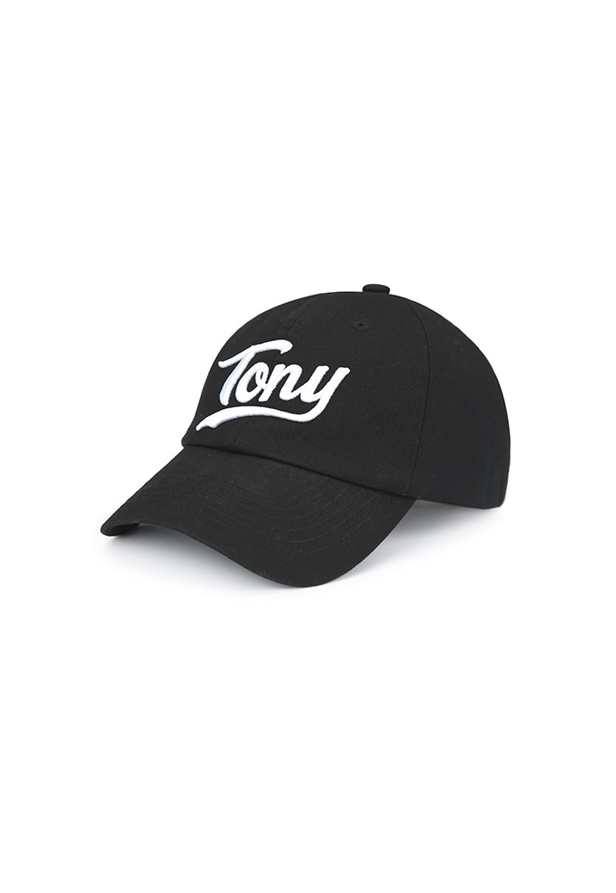 Tony-embroidered Baseball Cap_ Black