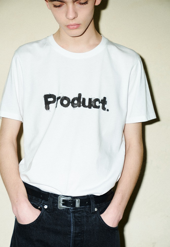 Stain Product T-shirt_ White