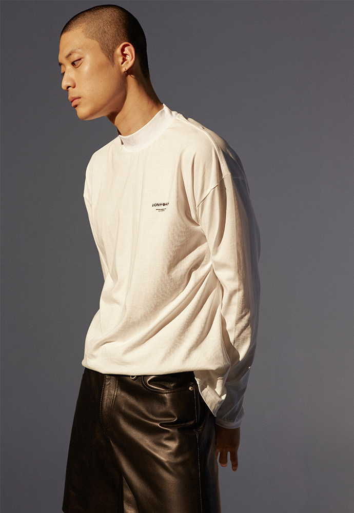 Dept. Mock-Neck Long Sleeve_ Off White