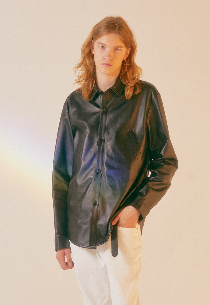 Port Leather Shirt Jacket
