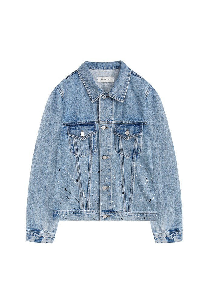 Musk Painting Denim Jacket_ Light Blue