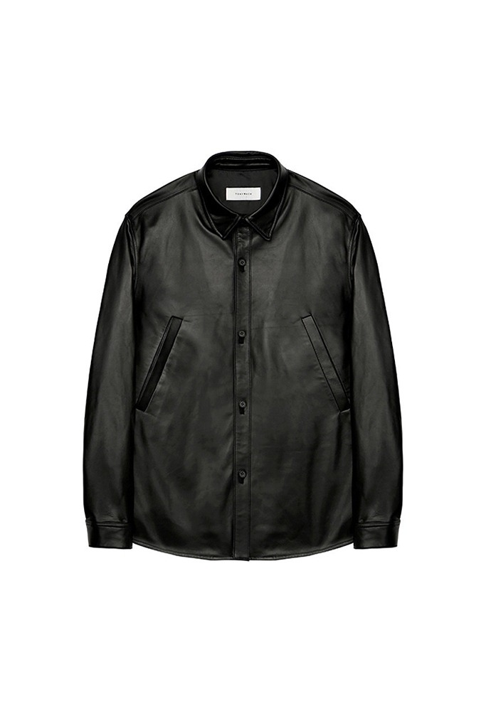 Port Double Pocket Leather Shirt